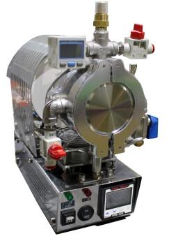 4分で1,200℃の急速昇温可能な手のひら真空炉 FT-01VAC-30/50です。