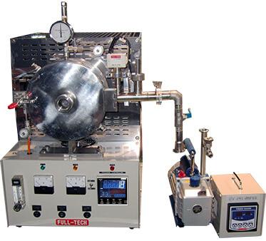 卓上型 高温管状雰囲気炉 FT-1200R-120/150 オプション真空ポンプ・ピラニー真空計セット