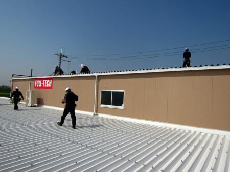 物流センター屋上に太陽光発電システムを設置完了後のロケーション